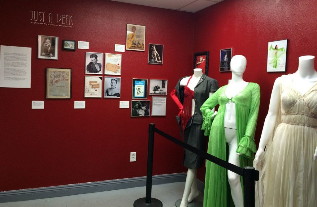 Outfits from iconic burlesque shows