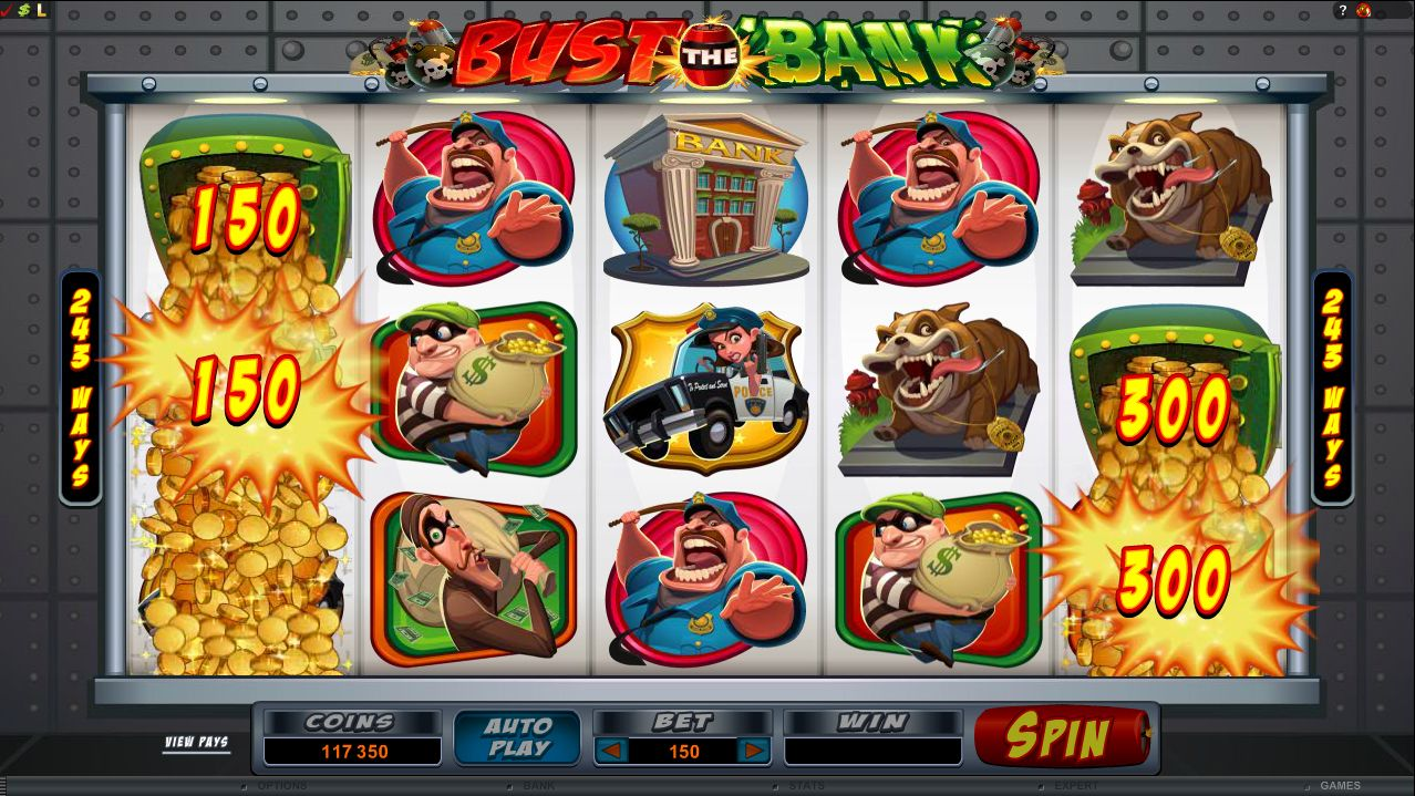 Bust the Bank, a robbery-themed slot created by Microgaming