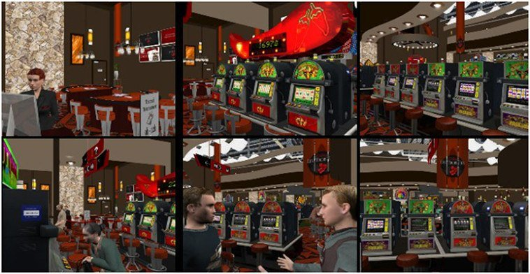 Images from CBT Virtual Reality gambling addiction treatment