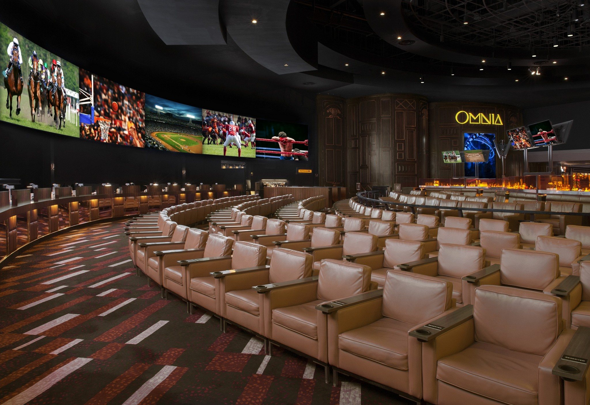 Race and sports book room in Caesars Palace