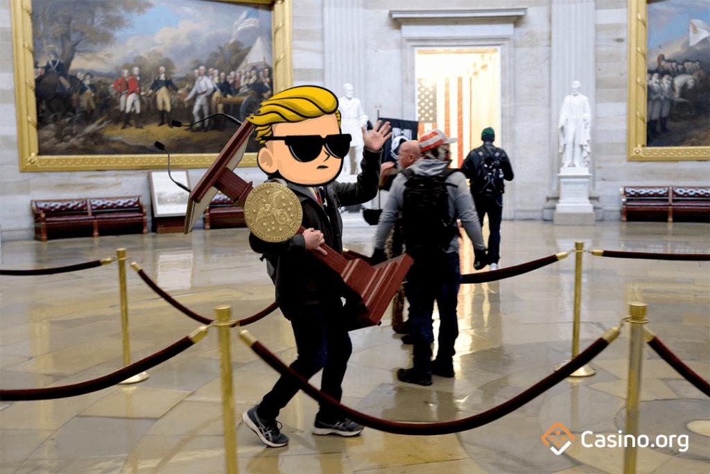 GameStop meme - Capitol storming