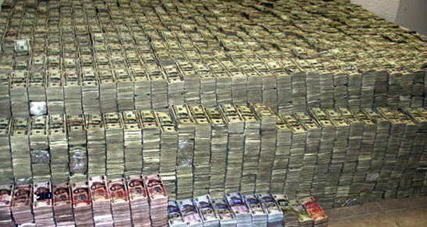 An image of the millions of dollars Escobar was in possession of