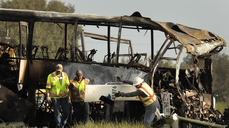 bus crash wreck