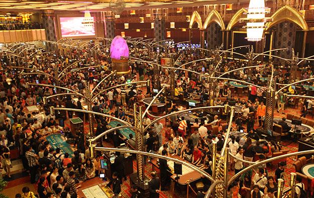 The casino floor from the Grand Lisboa casino in Macau