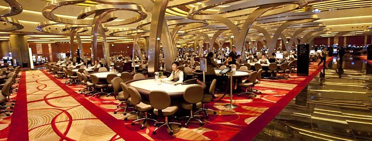 The casino floor inside Marina Bay Sands