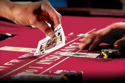 Real money gambling at a land-based casino