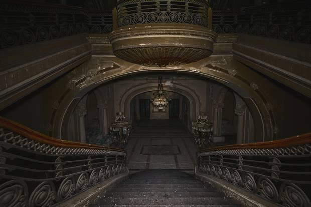 The abandoned casino lobby
