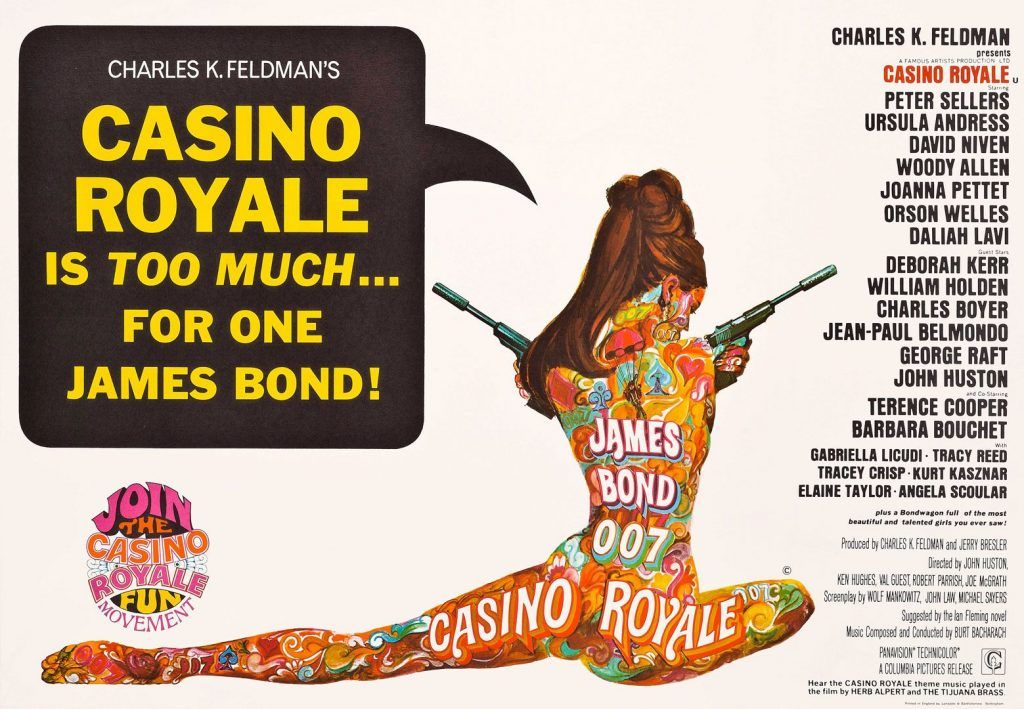 poster from 1967 movie Casino Royale