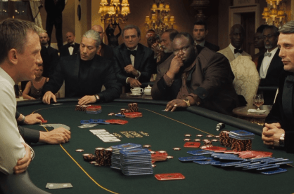 Betting action from the most popular scene in James Bond: Casino Royale