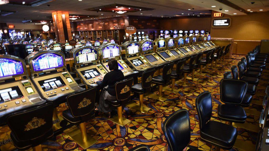 Casino slots from the Taj Mahal casino resort in Atlantic City