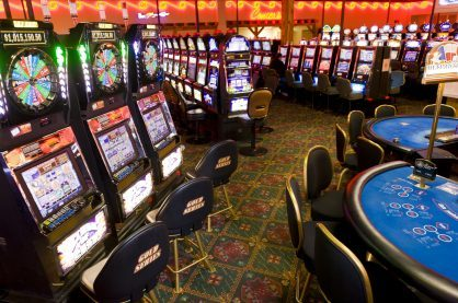 A shot of a land-based casino floor