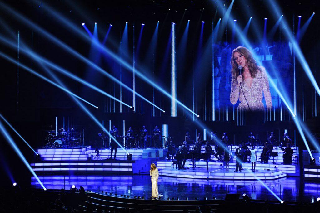 Celine Dion performing at Caesars Palace in Las Vegas