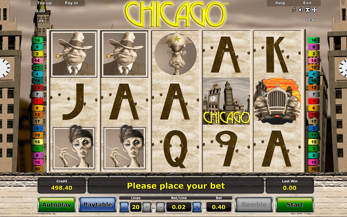 Chicago, Novomatic's crime-themed slot