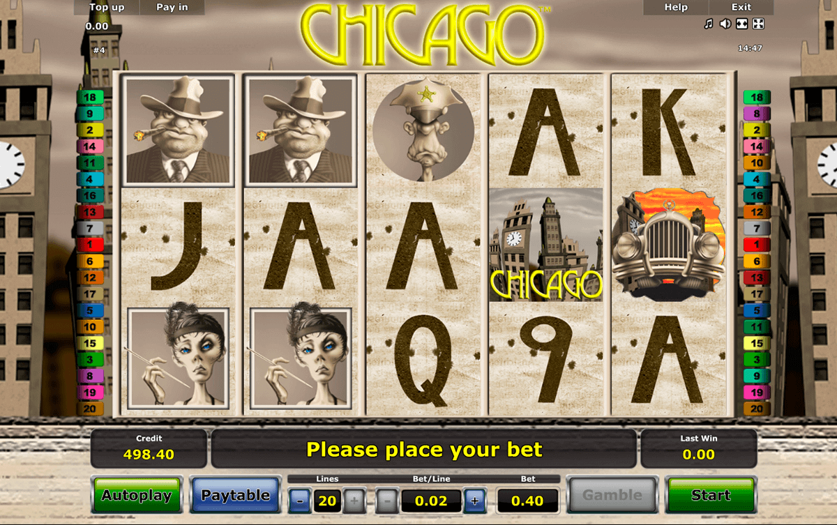 Chicago, Novomatic's crime-themed slot