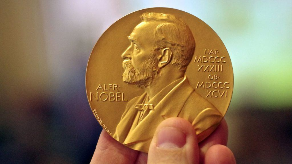 Nobel Prize chocolate coins for the winner of the bet
