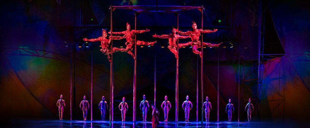 A scene from the show Mystere at Cirque du Soleil