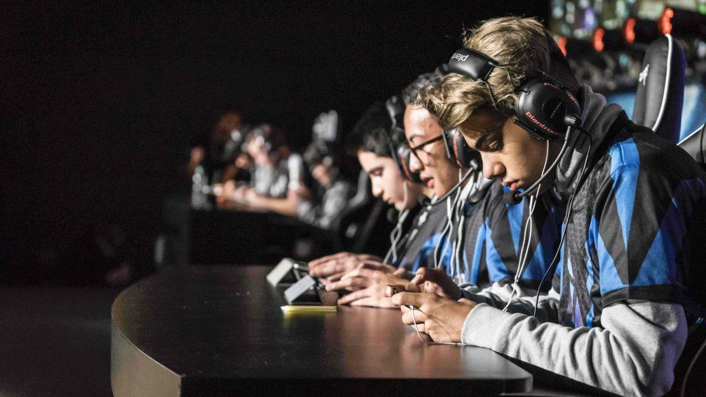 An eSports team competing at a 'Clash Royale' event