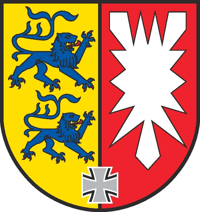 The logo for the Coat of arms of Schleswig-Holstein