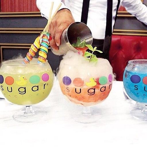 A cocktail goblet from the Sugar Factory
