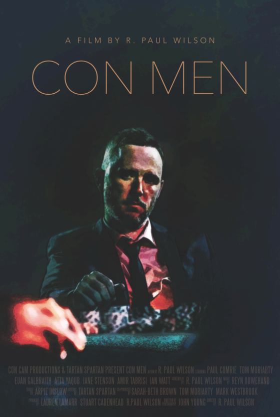 Movie poster from con men by R Paul Wilson