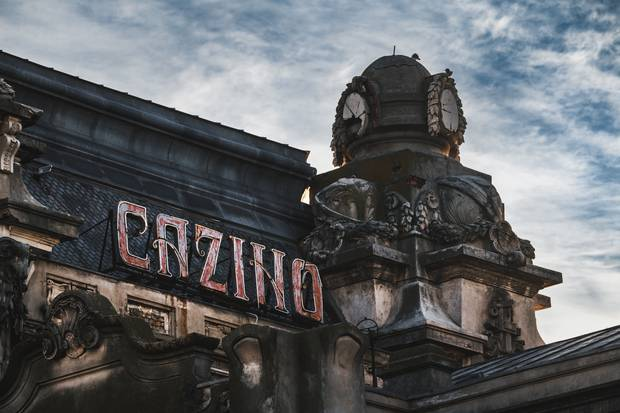 The outside of the abandoned Constanta Casino