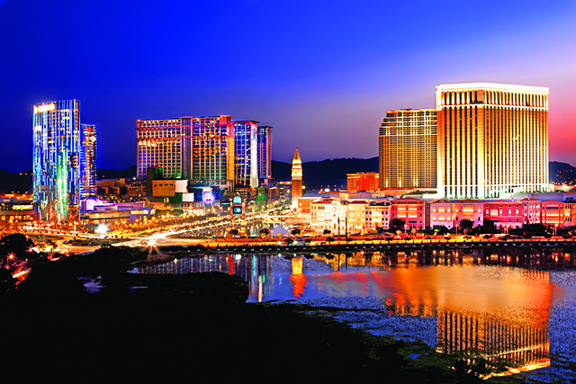 The Cotai Strip, situated in Macau