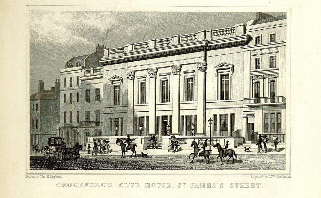 Drawing of Crockford's Club