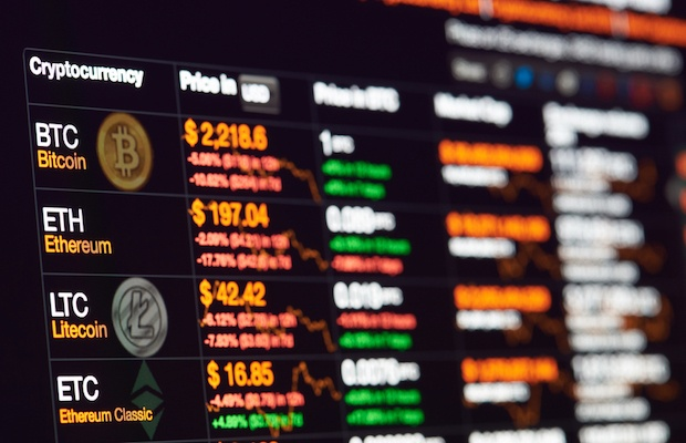 Cryptocurrency market prices