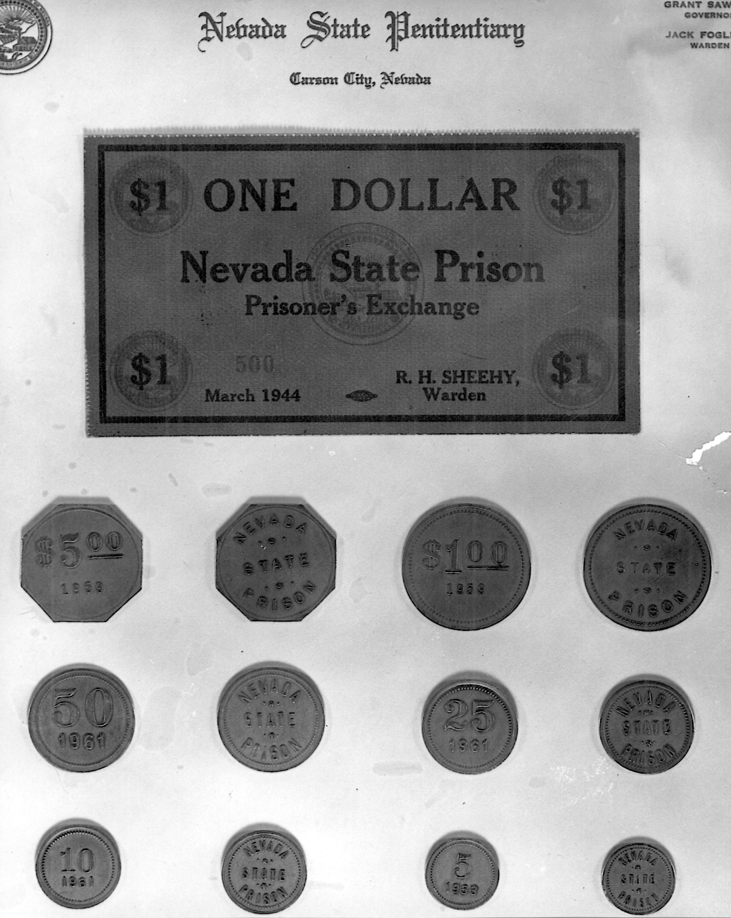 The currency that prisoners used