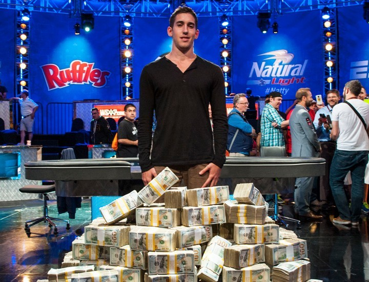 Daniel Colman after winning The One Drop WSOP event