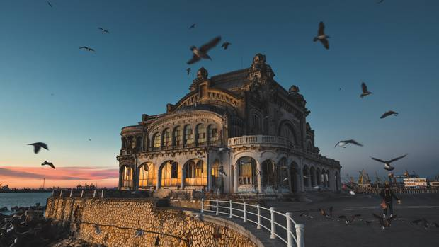Derelict casino in Constanta, Romania