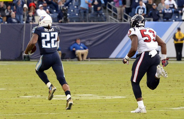 Derrick Henry, a running back for the Tennessee Titans