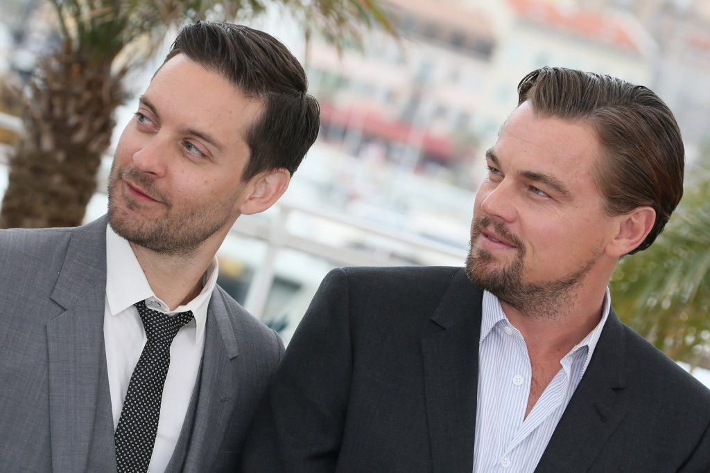 Leonardo DiCaprio and Tobey Maguire pictured together