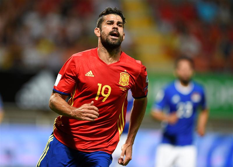 Controversial figure Diego Costa plays for Spain