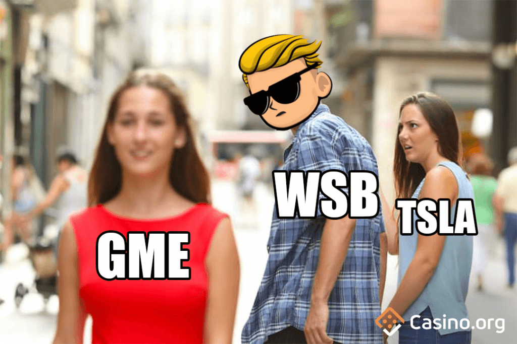 GameStop meme - distracted boyfriend meme