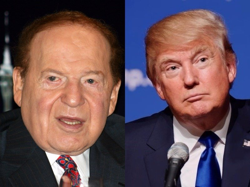 President Trump and Sheldon Adelson are close business friends