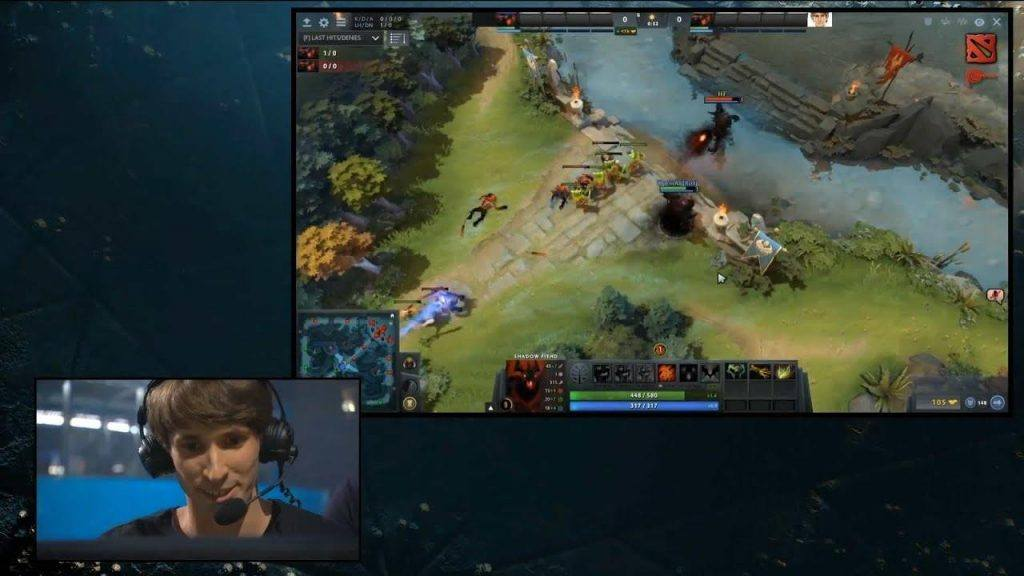 In-game action from a pro Dota 2 player