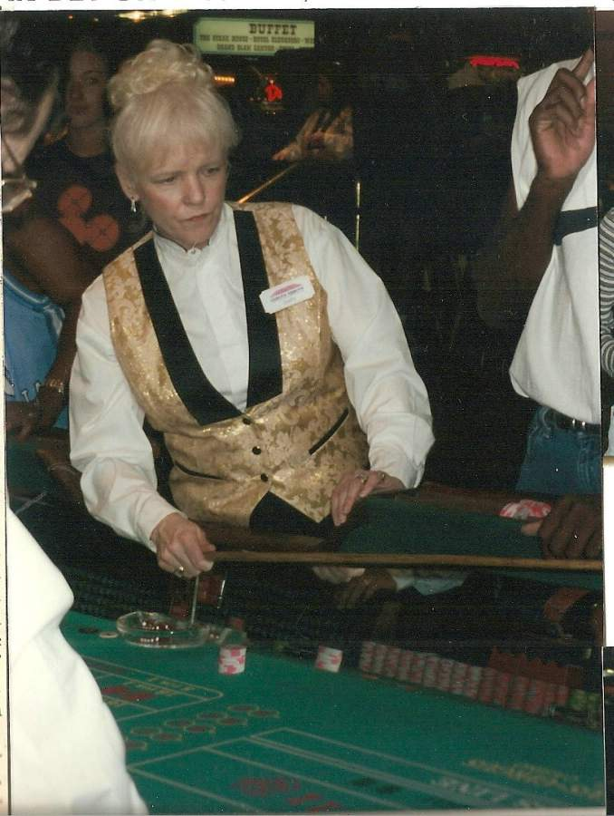 Dusty dealing dice at Circus Circus in 1997