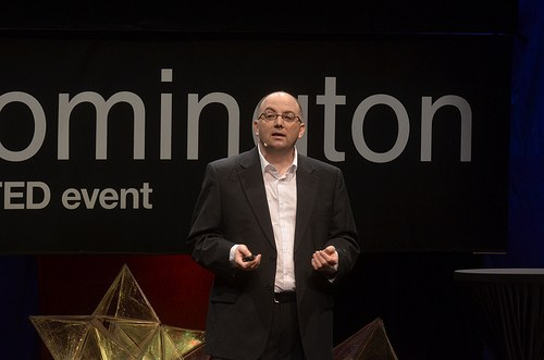 Edward Castronova speaking at an event