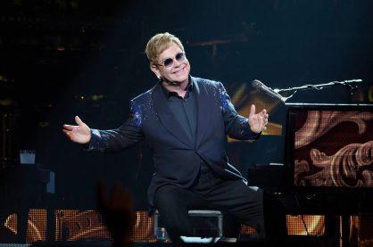 Elton John performing his show in Las Vegas