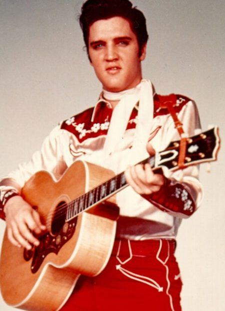 Elvis Presley promoting a Las Vegas show