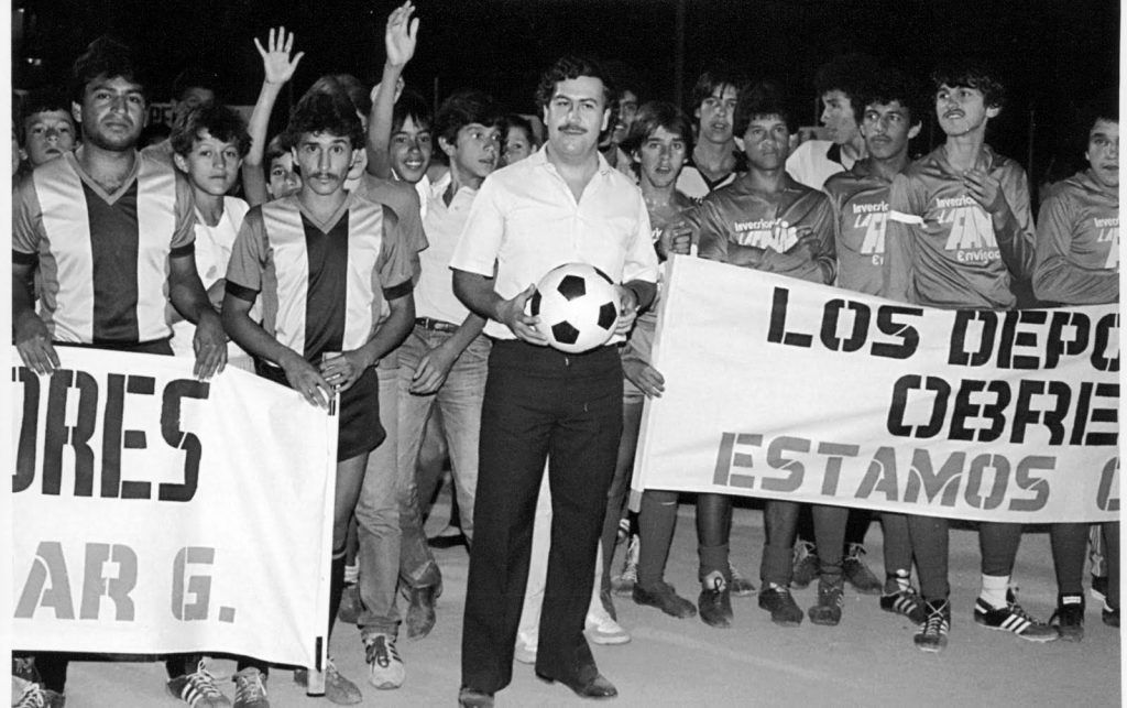 A photo of Pablo Escobar and his new football team