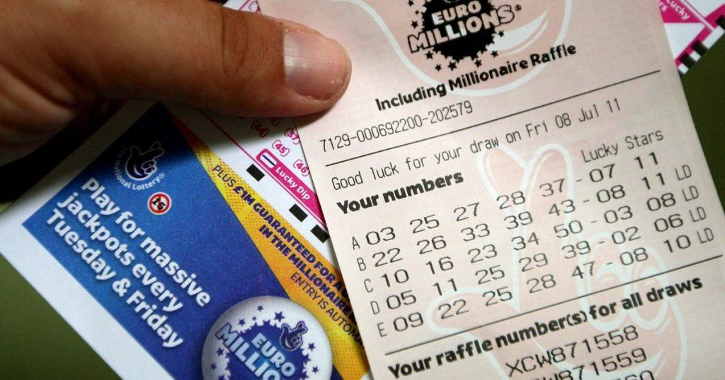 An image of a Euro Millions lottery ticket