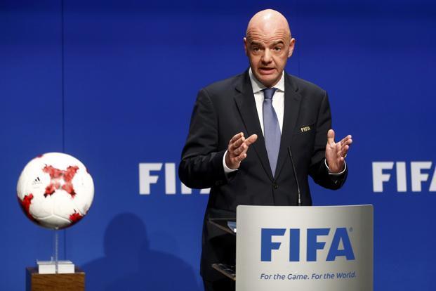The FIFA President, Gianni Infantino