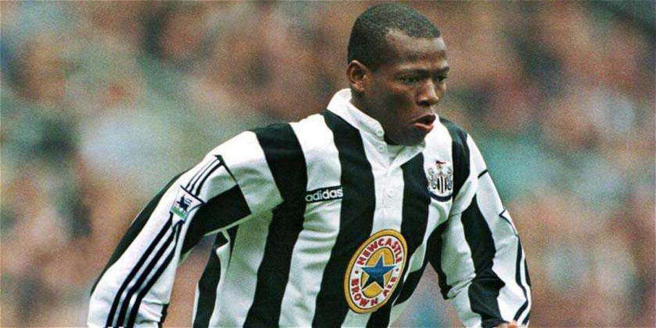 Faustino Asprilla playing for Newcastle