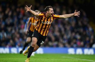 Caption: Bradford City's Filipe Morais was one of the heroes as the Bantams swept aside Chelsea in the fourth round. (Image: Mike Hewitt/Getty)