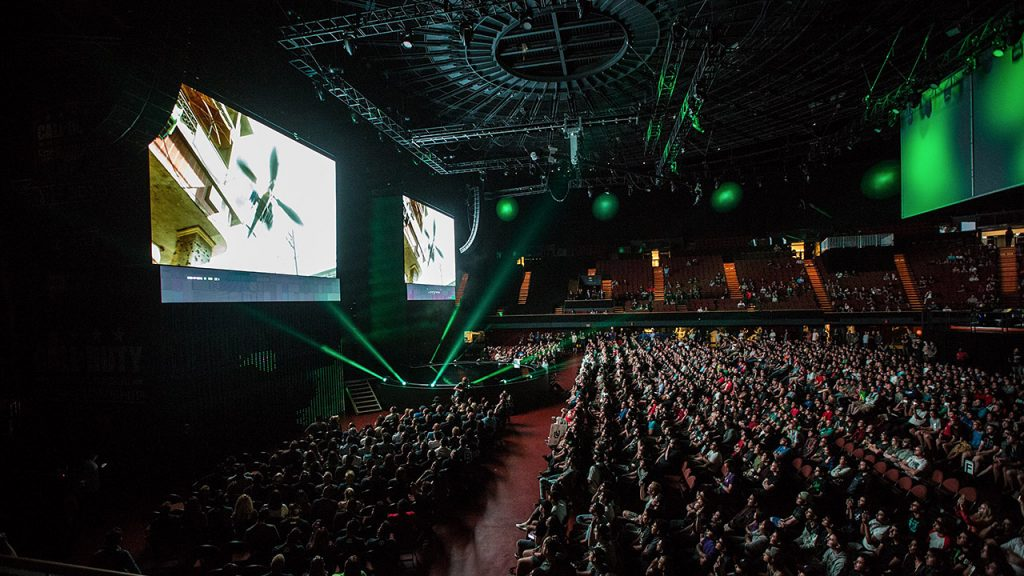 Inside the venue of a CS:GO tournament