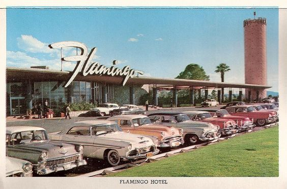 An image of the first casino to be built in Las Vegas, The Pink Flamingo