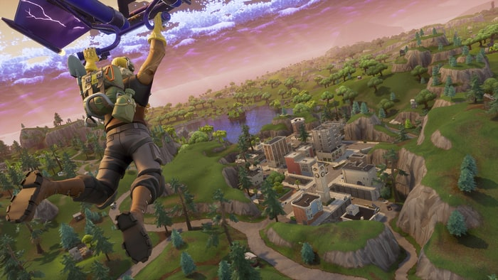 Gameplay from Fortnite, the most popular Battle Royale game