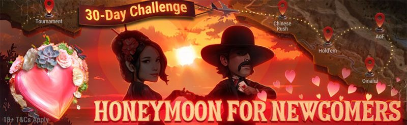 GG Poker's New Players' Honeymoon challenge
